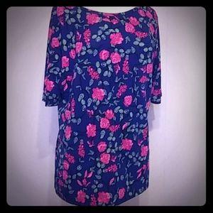 2/$15🌞Lularoe floral print blouse 3XL